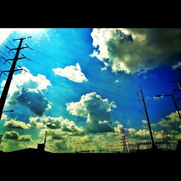 #powerlines and #clouds #cloudporn #sky #skyporn #igers #instagood #mn #minnesota #picoftheday #photooftheday  (Taken with Instagram at Minnesota)