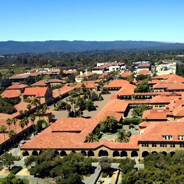 At #stanford #university at the top of #hover #tower. #view looking out of the main quad. #college #education #skyline #mountains #edit #gimp #nofilter  (Taken with Instagram)