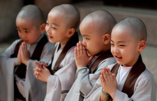 thenon-dualist:  Young Korean Buddhist Monks at the Lotus Lantern Festival in Seoul, Korea.