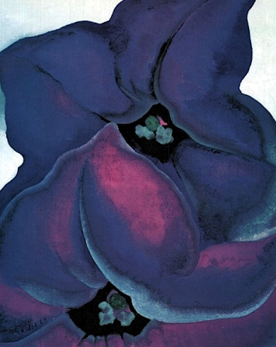 dreaminparis: Purple Petunias (1925) Georgia O'Keeffe
