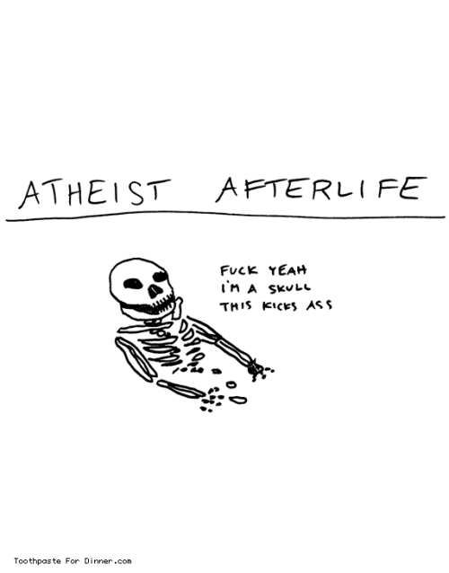 Atheist Afterlife (via Toothpaste For Dinner)