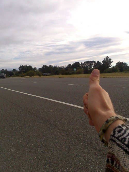 frogeyeacidtheory:  hitchhikin up highway 1 , just north of Arcata, california.