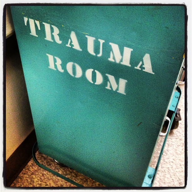Hospital - #trauma #er #ed #911 #emt #ambulance #ems #lacounty #nohero #doinwork  (Taken with Instagram)