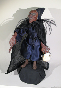 "Lantern Witch (2006) 12"" ceramic and cloth custom doll"