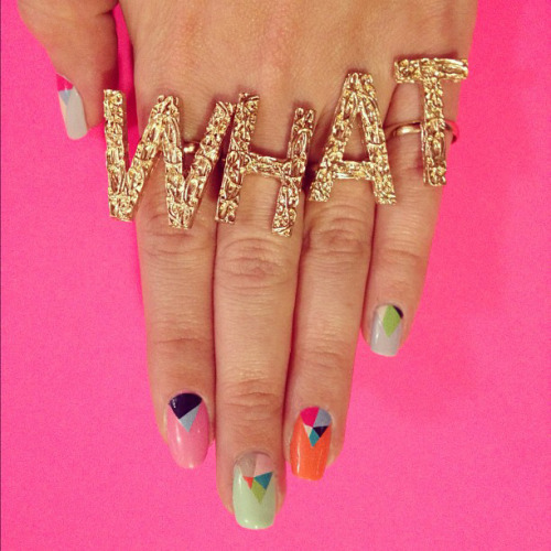 WHAT fake handpoy Rad Nails: Cut It Out, geometric nail art set //  sisternebraska:radnails