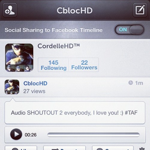 Follow me on Via Me: cblochd #TAF #ViaMe #Audio #PhotoOfTheDay #swag #steeze #spazz  (Taken with Instagram)