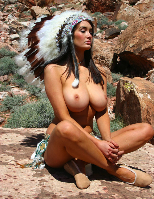 "worldofboobs:  Chief Big Tittys she say "" how you like my boobies white man ? ""    ."