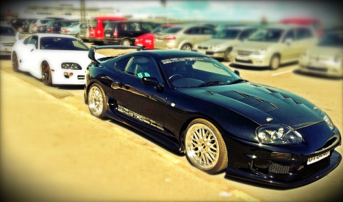 My 1994 Supra TT BPU+ and my friends 1997 TT behind…