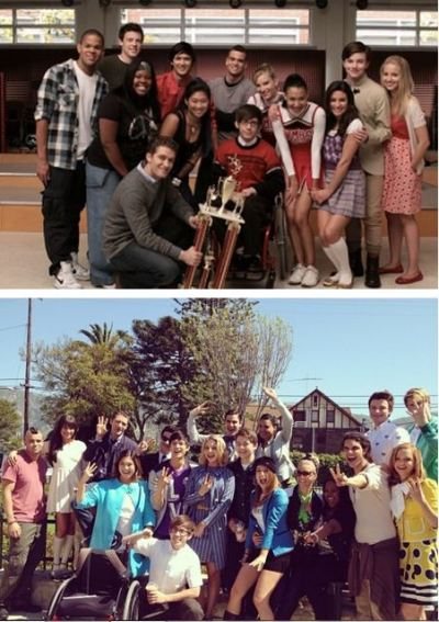 Glee Cast season 1 - Season 3 :')