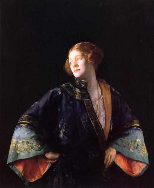 Joseph DeCamp The Blue Mandarin Coat 1922