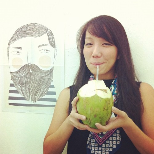 So @orpheliahuang stepped out of the office & came back with a coconut. Only in Little India! (Taken with Instagram)