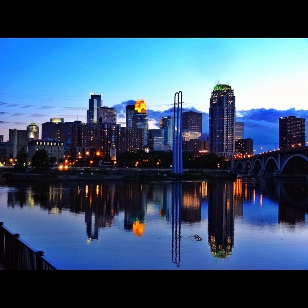 Another one of these #mpls #minneapolis #minnesota #twincities #igers #sunset #dusk #skyline #reflection #picofthenight #picoftheday #photooftheday (Taken with Instagram at MPLS)