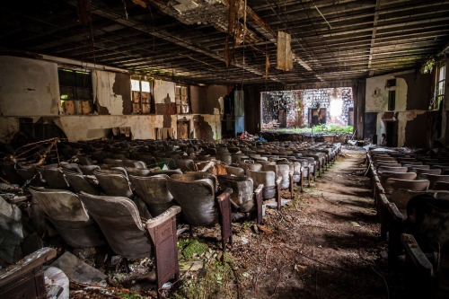 Theater in an abandoned psychiatric hospital.By jeremy marshall