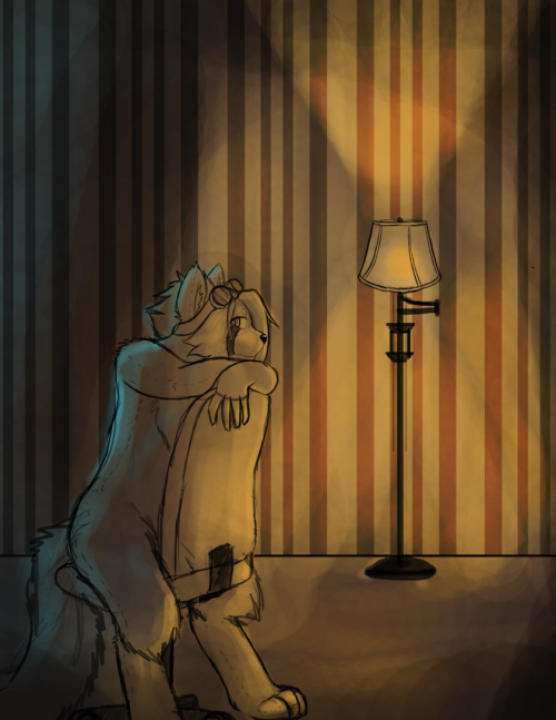 Lonely nights. Doodle time. Experimenting with lighting.