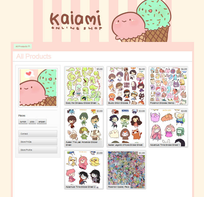 kaiami:  kaiami:  Aaand the store is live! I hope you guys are excited as I am.  Signal boosting myself as this was posted pretty late last night. Thanks for the support, guys!!  OH SNAP!