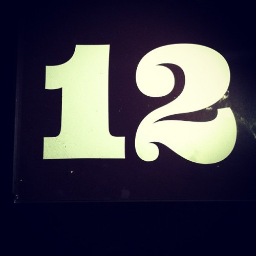 Table numbers at Bagots Hutton on South William Street are nice. (Taken with Instagram)