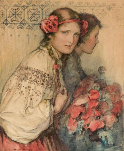 fletchingarrows:  fleurdulys:  Poppy Girl - Wladislaw T. Benda  lovely. i've always wanted a headband like this (just like ozma of oz has!); i think it's time for me to just make one for myself.