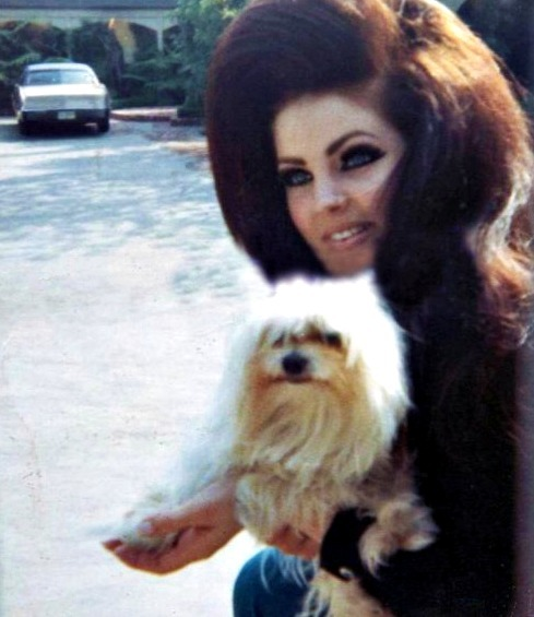 Pricilla Presley and friend c.1967