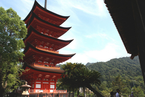 Pagoda at Miyajima Island on Flickr.