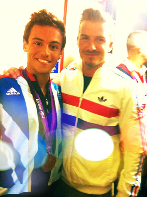 Tom Daley & David Beckham.