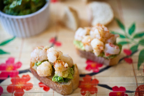 Shrimp & Avocado Bruschetta