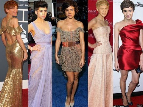 starriahbebz:  directionerswiftylermaniac:  Such Fitties! LOL!XD  Bahahahahah zayns one looks so real  Bahah look at liams legs #nice