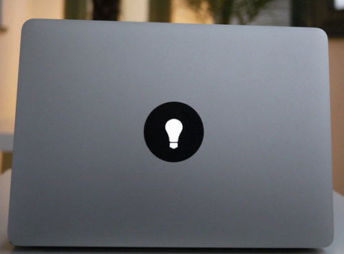 (via MacBook sticker lightbulb by macstixnet on Etsy)