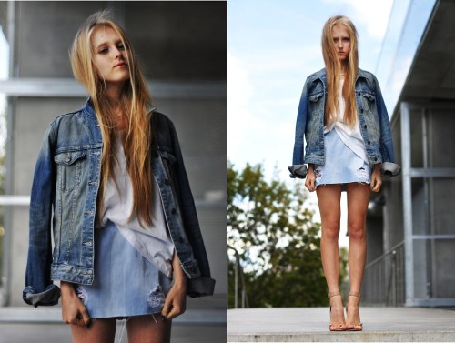 Ah, o jeans!  lookbookdotnu:  Denim today! (by Dominica Justyna)