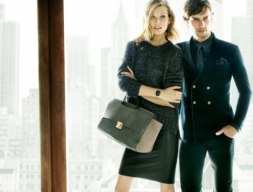 Toni Garrn & David Genat by Mario Testino for Massimo Dutti #2