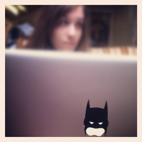 Awesome present  from @aliseec. Now I've got a BatMac!  (Taken with Instagram)
