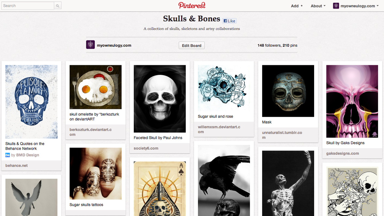 myeulogy:  Obsessed with skulls? Visit our Skulls and Bones board on Pinterest
