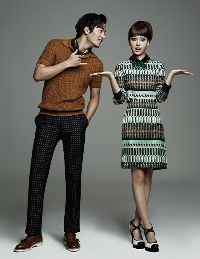 kmagazinelovers:  Lee Jin Wook and Jung Yumi - Harper's Bazaar Magazine August Issue '12