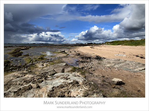 Gathering Storm Clouds over the Beach at Carnoustie, Angus, Scotland