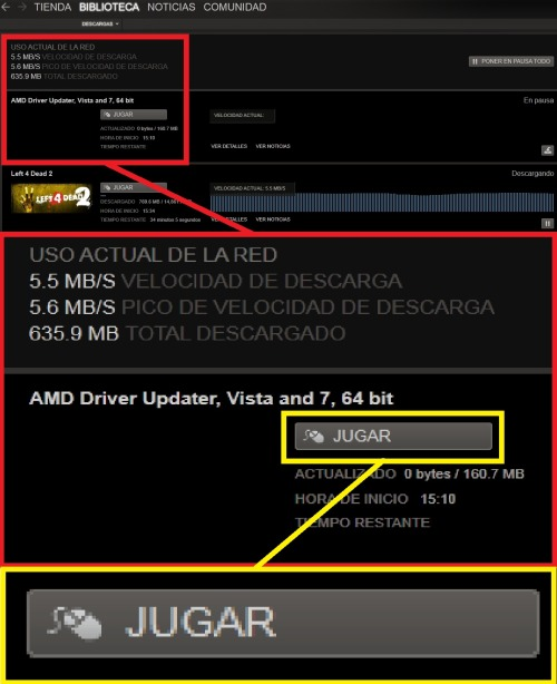 ¿ Jugamos al…. AMD Driver Updater ? Steam….