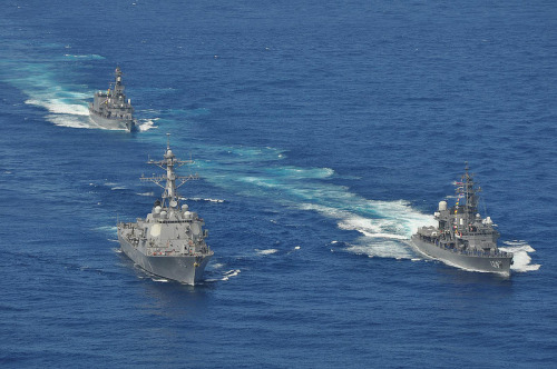 "'Sea grab' sparks tensions in South China Sea  |  Stars and Stripes By Wyatt Olson YOKOTA AIR BASE, Japan — Many people look at China and see a unified behemoth tightly controlled by the communist central leadership, so when a diplomatic fray develops, like a rash of recent confrontations in the South China Sea, the assumption is that it's all part of a grand plan by Beijing. But some analysts see the bureaucracy as more akin to a giant octopus, with the teeming tentacles of ministries and provinces setting their own agendas as they compete for clout and profits — as long as they maintain loyalty to the Communist Party. The philosophy, particularly among southern provinces, is the ancient adage, ""Heaven is high and the emperor far away."" FULL ARTICLE (Stars and Stripes) Photo: Official U.S. Navy Imagery/Flickr"