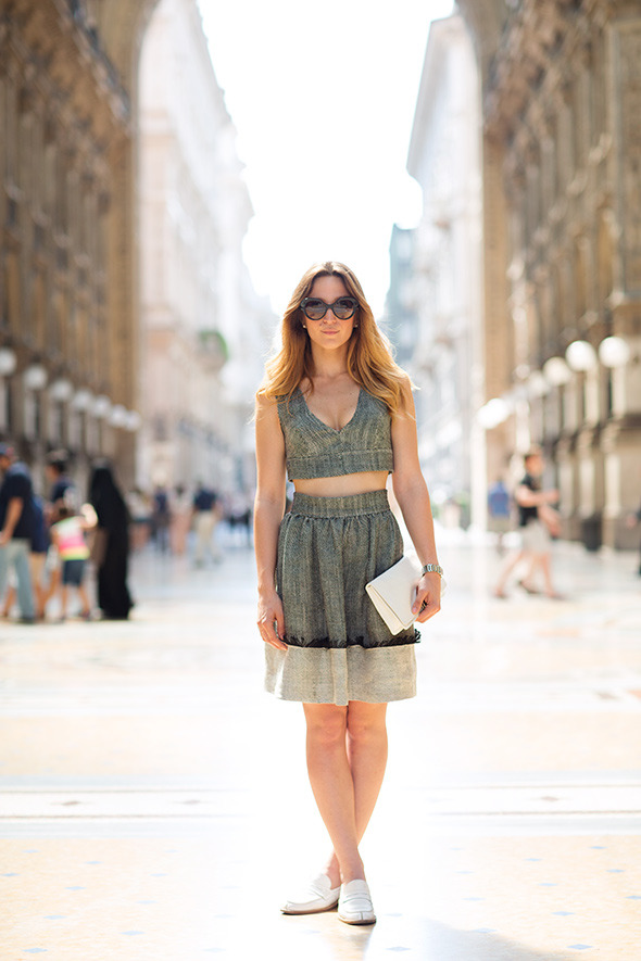 Che bella! Italian style, shown in Milan, shot by The Sartorialist