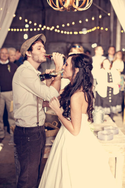 Coke bottle wedding toast instead of Champagne