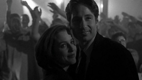 "allxfiles:  ""And at the end of it is this beautiful image of Mulder asking Scully to dance, and then it turns into a comic book. I remember when I fist saw it, I got chills because that's kind of how I'll remember the show."" - David Duchovny"
