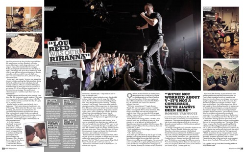 The Killers in this week's NME. Part 3 (via TKC)
