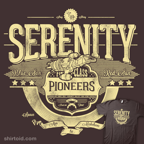 shirtoid:  Space Pioneers by CoDdesigns is $10 today only (8/14) at Shirt Punch