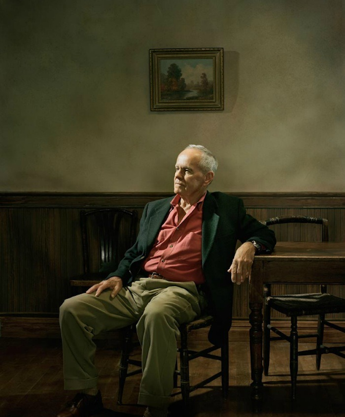 "Cormac McCarthy —Photo by Eric Odgen   ""You think when you wake up in the mornin yesterday don't count. But yesterday is all that does count. What else is there? Your life is made out of the days it's made out of. Nothin else.""― Cormac McCarthy, No Country for Old Men  I'm currently reading this book, well listening it to it on audiobook, and it's simply brilliant. It's like each sentence has existed forever, it feels like there's a real inevitability to it, the words just belong together. Sure I have the images from the film in mind, but it's so interesting to see which parts were changed slightly and which were omitted. It was up to a particularly tense moment in the story when I dropped my ipod. It was just out the front of a sushi shop in Armadale, of all the edges and angles possible, it happened to fall on the one tiny vulnerability and jammed the hold button in. I was really annoyed that my ipod was ruined, but devastated that I couldn't listen to what happened next while I ate my spicy prawn roll. Looking for meaning, I walked into this massive antique store and promptly tore the front of my jeans right open on the razor sharp edge of this god awful 1700s French gilt-bronze mounted desk. That sharp edge had been passed down for hundreds of years, had seen it all, the world, high seas, wars, peace, probably a lot of stationary, life and death, waiting and waiting and waiting some more, all the while constantly getting sharper, all for the day it would fulfill it's destiny and meet my crutch. I might be mixing my metaphors but it was a lot like a Viet Cong sniper crouching in the jungle. I thought about this and then with my groin in tatters, with huge strips of fabric blowing around in the wind and my junk half frozen to death, i walked home in the rain. Pretty much defeated by a really shitty Tuesday, I decided to take a hacksaw and my mother's set of fancy fabric unpickers to said ipod. To my surprise for the first time in a very long history of Tmac DIY fixit jobs, this one did NOT end with:-tetanus shots-an emotional meltdown-broken/lost tools-blood loss-a screaming competition (or the associated noise complaints)-ANY Crimestoppers involvement-PTSD-a Cheezel binge necessitating a visit to more than one large supermarket-Stockholm Syndrome  I sawed down the edges and popped the little guy up, and I kind of like the Mad Max look my ipod has now. Not sure if this is a sign or not. Finding a suitcase full of cash would have really been a sign, maybe to follow my dream and start that mobile sauna business. Hey Cormac, you chuck in $20K and I'll give you unlimited saunas whenever you're in town, i'll even name one of the fleet after you and sort out some kind of steam proof plaque."