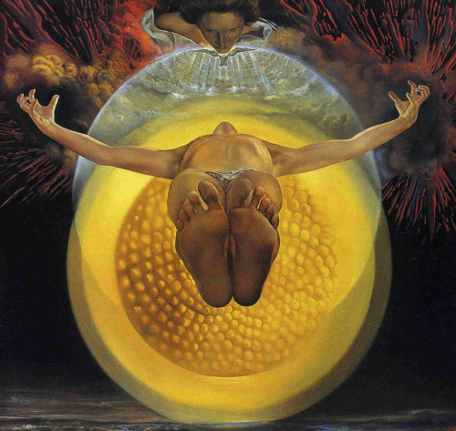SALVADOR DALI 'Ascension' 1958. Oil on canvas by Plum leaves on Flickr.