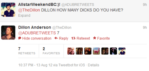Dillon has 7 dicks….#confirmed