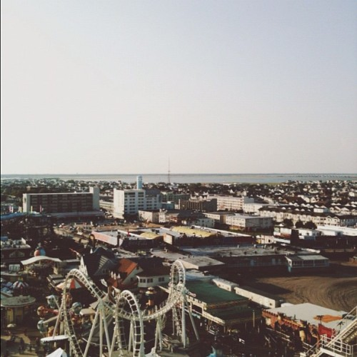 Tops of Ferris Wheels. #jersey #wildwood #view #ferriswheel #ride #landscape (Taken with Instagram)