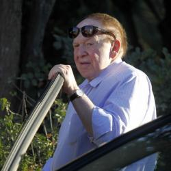 "Why the Republican Party can't renounce Sheldon Adelson. In 2008, Sen. John McCain returned $50,000 when questions arose about how its donor had scored a defense contract. In February, President Obama returned more than $200,000 donated by several men linked to drug and assassination allegations in Mexico. These decisions reflected the basic calculation that it is worth more, politically, not to be tainted by questionable funds than to have the money to spend. Given the comparatively paltry sums, they were no-brainers. But what about when many, many millions of dollars are at stake? What about when the donor is Sheldon Adelson, and he has given or pledged to give more than $70 million (!) to Republican groups this cycle? When he was put front-and-center at Mitt Romney's speech in Jerusalem, and when Rep. Paul Ryan is headed to a fundraiser at the Adelson-owned Venetian three days after being announced as the vice-presidential nominee? What happens when a donor is, in effect, too big to fail? (Disclosure: I totally lost some money at the Venetian's blackjack tables three years ago. It's not the source of my agitation.) Marc Tracy — ""Sheldon Adelson: No One Man Should Have All That Power"""
