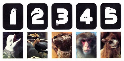 Minnesota Zoo numerals by Lance Wyman (1981). See more here.