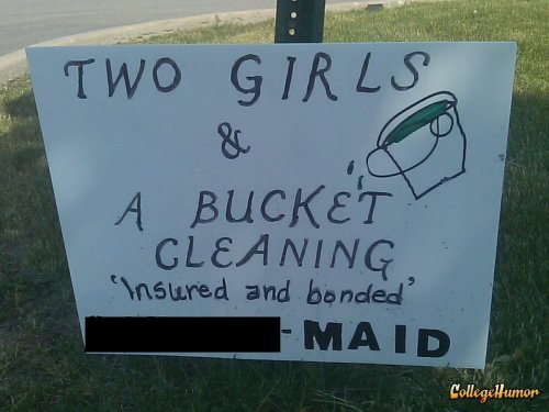 Two Girls One Bucket Cleaning Two Girls, One Bucket? I'd be wary of this cleaning company.