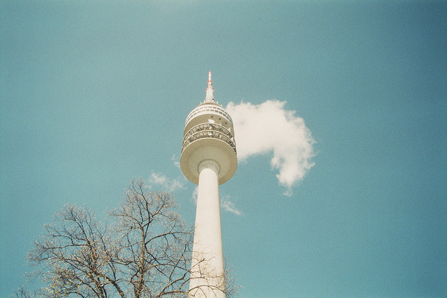 untitled on Flickr. This is a real tall tower I saw in Munich.