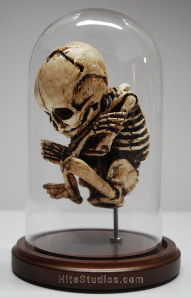 Skeletal Fetus Sculpture by Jason Andrew Hite at Lost Gallery