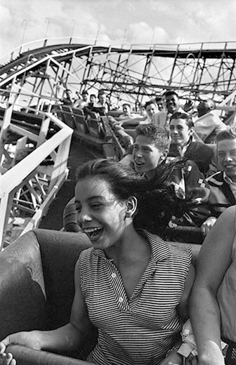 Harold Feinstein, Screaming on The Cyclone! Coney Island, 1955 These photographs will be in the exhibition Harold Feinstein | A Retrospective, opening Sept 14th at Panopticon Gallery.